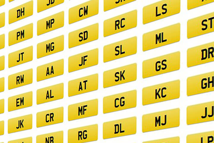 Search for initial number plates