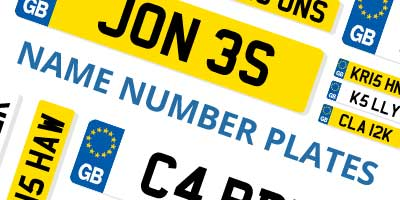 Name number plates