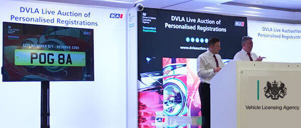 Photo of the DVLA Auction taking place