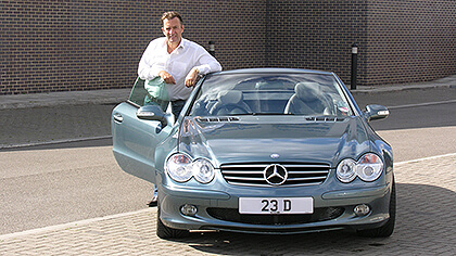 Duncan Bannatyne with his 23 D number plate