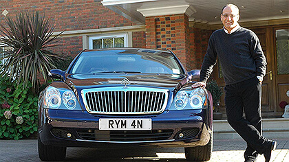 Theo Paphitis with his number plate RYM 4N
